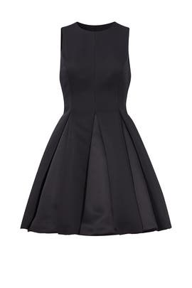 Black Pleated Dress by Halston Heritage