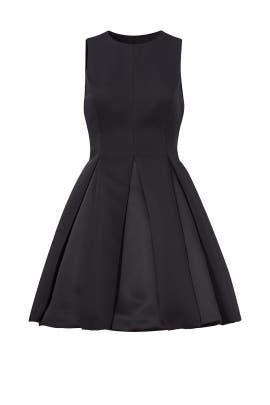 Black Pleated Dress by Halston Heritage
