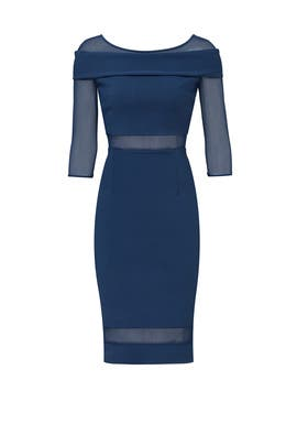 Blue Artico Cocotte Illusion Sheath by La Petite Robe di Chiara Boni