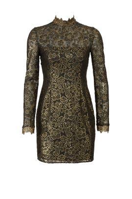 Metallic Hunter Dress by Rachel Zoe