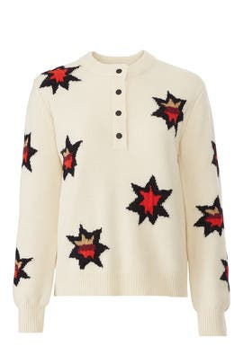 Knitted Star Artwork Sweater by Scotch & Soda