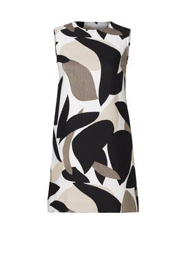 Mod Printed Jacquard Dress by Josie Natori