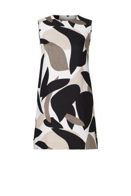 Mod Printed Jacquard Dress by Josie Natori