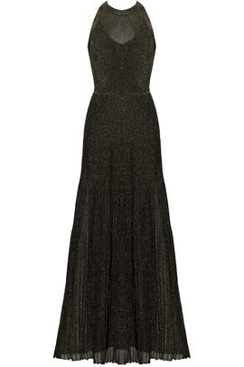 Black and Gold Knit Gown by Vionnet