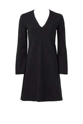 Long Sleeve V-Neck Dress by DEREK LAM