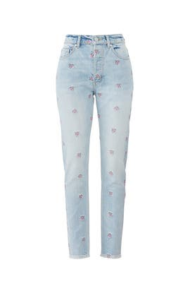 Embroidery Beatrice Jeans by La Vie Rebecca Taylor