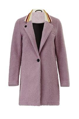 Lilac Contrast Collar Coat by Scotch & Soda