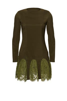 Army Green Desert Paradise Dress by Asilio
