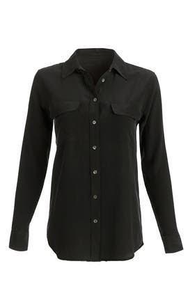 Black Signature Button Down  by Equipment