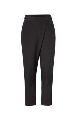 Black Wrap Front Pants by Halston Heritage