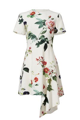 Garden Floral Asymmetrical Dress by STYLESTALKER