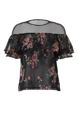 Black Floral Rayna Top by BB Dakota