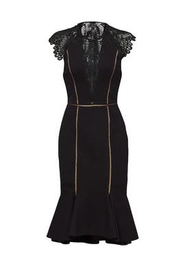 Black Gemini Dress by CATHERINE DEANE