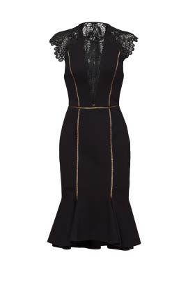 Black Gemini Dress by CATHERINE DEANE