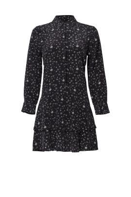 Black Star Ruffle Dress by Equipment