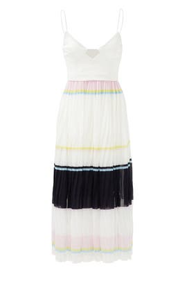 Stripe Pleated Cami Dress by Nicholas
