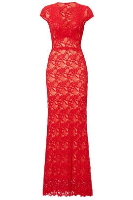 Red Gardenista Gown by Nightcap