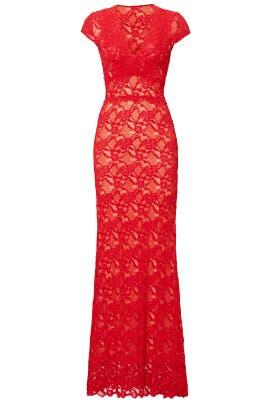 Red Gardenista Gown by Nightcap