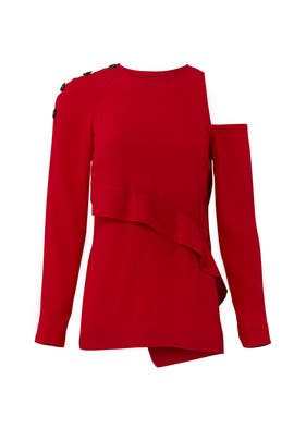 Deep Red Top by Proenza Schouler