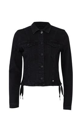 Lace Up Fitted Denim Jacket by Scotch & Soda