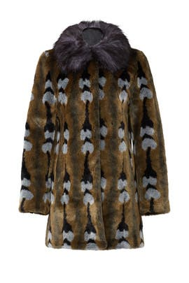 Reflections Faux Fur Coat by Unreal Fur