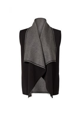 Heather Grey Draped Vest by ALALA
