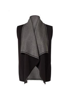Heather Grey Draped Vest by ALALA