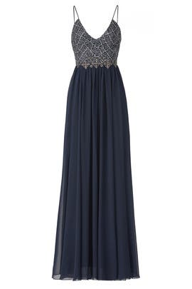 Navy Ballerina Gown by Badgley Mischka