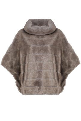 Grey Faux Mink Cape by kate spade new york