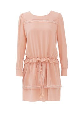Pink Silk De Chine Dress by See by Chloe