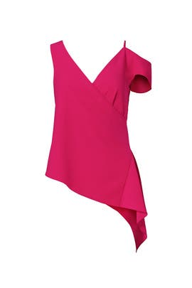 Pink Side Drape Top by Slate & Willow