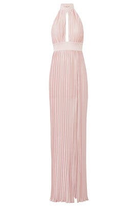 Blush Aster Halter Gown by The Jetset Diaries