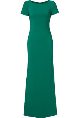 Green Cascade Gown by Badgley Mischka