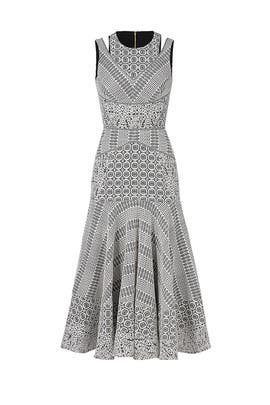 White Lace Midi Dress by J. Mendel