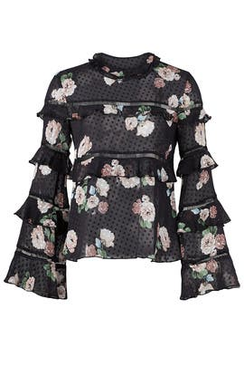 Rose Printed Top by Nicholas