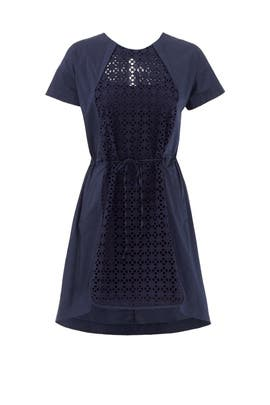 Navy Garden Fence Dress by O2nd