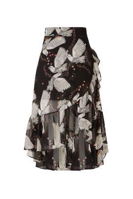 Black Selena Skirt by Rebecca Minkoff