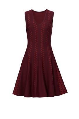 Burgundy Diamante Dress by Slate & Willow