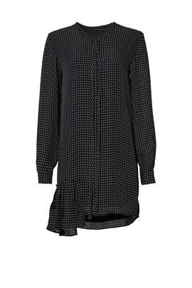 Estrella Printed Silk Shirt Dress by Tibi