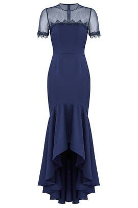 High Low Illusion Gown by JS Collection