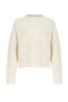 Ivory Knit Sweater by Carven