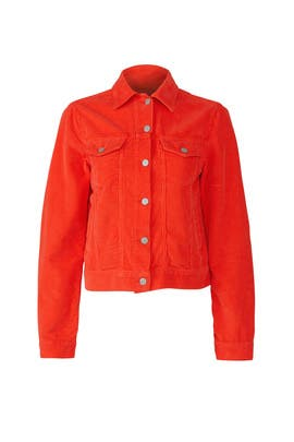 Red Trucker Jacket by The Cords & Co