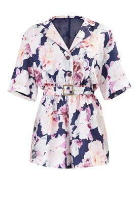 Rose Floral Romper by Cynthia Rowley