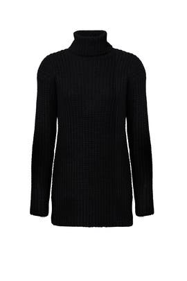 Black Open Back Sweater by Endless Rose