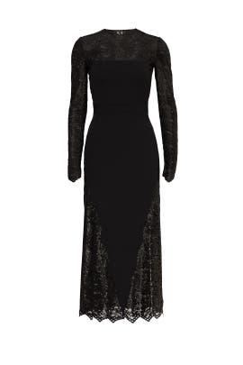 Lace Manor Midi Dress by Emanuel Ungaro