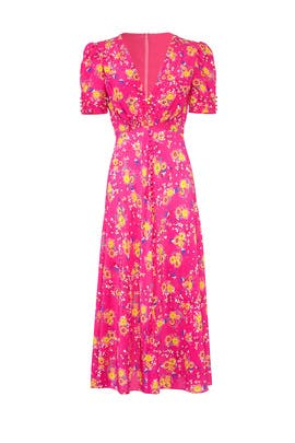 Shocking Pink Lea Dress by SALONI