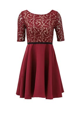 Burgundy Percy Dress by Slate & Willow