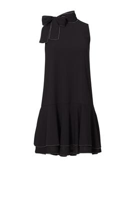 Black Pico Stitch Alyson Dress by Cooper & Ella