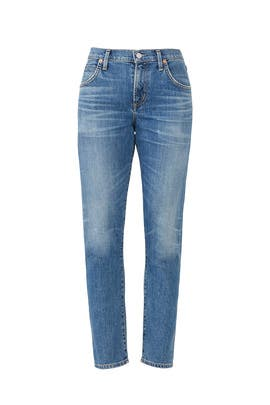 Blue Elsa Slim Crop Jeans by Citizens Of Humanity