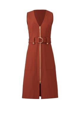 A-Line Zip Front Dress by Diane von Furstenberg